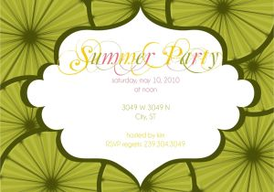 Summer Party Invitation Wording Summer Party Invitation Wording Samples Invitations Card