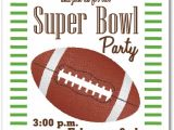 Super Bowl Party Invite Stripes and Football Super Bowl Party Invitations
