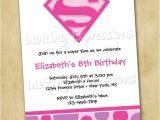 Supergirl Birthday Party Invitations Items Similar to Super Girl Superhero Birthday Invitations