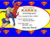 Supergirl Birthday Party Invitations Supergirl Birthday Invitation Printable