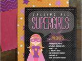 Supergirl Birthday Party Invitations Supergirl Birthday Party Invitations