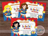 Supergirl Birthday Party Invitations Superhero Super Girl Party Invitation Super Girl Invitation