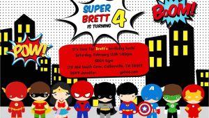 Superhero Birthday Invitations Templates Free Greygrey Designs My Parties Brett S Superhero 4th