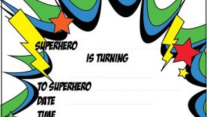 Superhero Party Invitation Template 12 Blank Superhero Birthday Invitations Free Invitation
