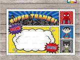 Superhero Party Invitation Template Instant Download Superhero Birthday Invitation Blank Thank