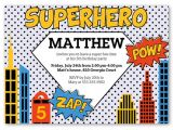 Superhero Party Invitation Template Superhero 5×7 Invite Boy Birthday Invitations Shutterfly