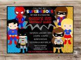 Superhero Party Invitation Template Superhero Birthday Invitation Boys and Girls by