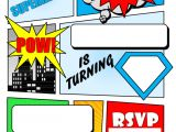 Superhero Party Invitation Template Superhero Comic Book Party Invitation with Free Printable