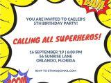 Superhero Party Invitation Template Superhero Invitation Templates Canva