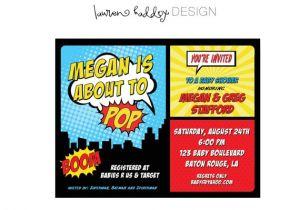 Superhero themed Baby Shower Invitations Diy Superhero Baby Shower Invitation by Lauren Haddox