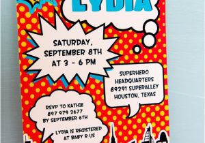 Superhero themed Baby Shower Invitations Instant Download Superhero Baby Shower Party by Owliepowlie