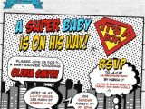 Superhero themed Baby Shower Invitations Printable Pop Art Superhero Baby Shower Cute Invitation