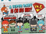 Superhero themed Baby Shower Invitations Superhero Baby Shower Invitation Baby Superhero