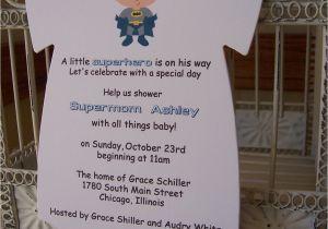 Superhero themed Baby Shower Invitations Superhero Baby Shower Invitation Custom Die Cut