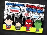 Superhero themed Baby Shower Invitations Superhero Baby Shower Invitation Marvel by