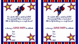 Superman Birthday Invitation Template Superman Birthday Invitations Birthday Printable