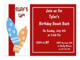 Surf S Up Birthday Party Invitations Surfs Up Beach Party Invitations