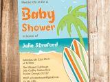 Surfer Baby Shower Invitations Surfer Baby Shower Invitation Printable Beach Baby Shower