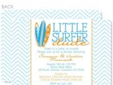 Surfer Girl Baby Shower Invitations Little Surfer Dude Baby Shower Invitation – Pipsy