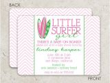 Surfer Girl Baby Shower Invitations Surfboard Baby Shower Invitation Surfer Birthday
