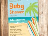 Surfer Girl Baby Shower Invitations Surfer Baby Shower Invitation Printable Beach Baby Shower