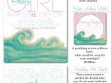 Surfer Girl Baby Shower Invitations Surfer Girl Surfer Girl Party Invites Surf themed Party