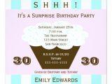 Surprise 30th Birthday Invitations Cupcake 30th Surprise Birthday Party Invitation