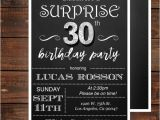 Surprise 30th Birthday Invitations Surprise 30th Birthday Invitations for Him Mens 30th