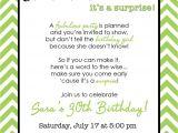 Surprise 30th Birthday Party Invitation Wording Chevron Surprise Party Invitation