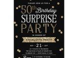 Surprise 50th Anniversary Party Invitations 50th Glitter Confetti Surprise Party Invitation Zazzle Com
