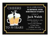 Surprise 50th Anniversary Party Invitations Cheers Surprise 50th Birthday Party Invitations Zazzle
