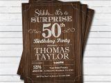 Surprise 50th Birthday Invites Surprise 50th Birthday Invitation Adult Man Any Age