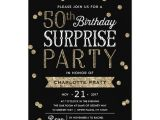 Surprise 50th Birthday Party Invites 50th Glitter Confetti Surprise Party Invitation