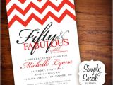 Surprise 50th Birthday Party Invites Surprise 50th Birthday Party Invitation with Chevron