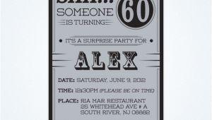 Surprise 60 Birthday Party Invitations Free Printable 60th Surprise Birthday Party Invitations