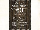 Surprise 60th Birthday Invitation Wording Ideas Surprise 60th Birthday Invitation Any Age Rustic