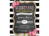 Surprise 75th Birthday Invitation Templates 75th Surprise Luncheon Birthday Party Invitation Zazzle