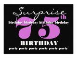 Surprise 75th Birthday Invitation Templates 75th Surprise Purple Birthday Party Template Zazzle