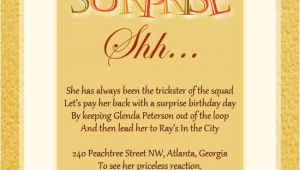 Surprise Birthday Invitation Wording Surprise Birthday Party Invitation Wording Wordings and