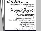 Surprise Birthday Party Invitation Wording Black Damask Surprise Party Invitation Printable or Printed