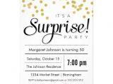 Surprise Party Invitation Template Confetti Surprise Party Invitation