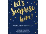 Surprise Party Invitation Template Gold Lettering Surprise Party Invitations for Him
