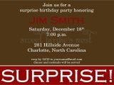 Surprise Party Invitation Template Surprise Party Invitation Sample