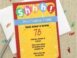 Surprise Party Invitations Ideas Colorful Surprise Party Invitations 75th Birthday Ideas
