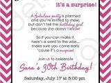 Surprise Party Invite Wording Chevron Surprise Party Invitation Printable Invitation