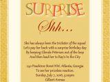 Surprise Party Invite Wording Surprise Birthday Party Invitation Wording Wordings and