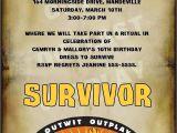Survivor Party Invitations Custom Survivor Party Invitations Survivor Party Party