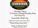 Survivor Party Invitations Survivor 40th Birthday Party Nikki Lynn Design