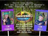 Survivor Party Invitations Survivor Birthday Party Invitations Ideas Bagvania Free