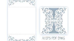 Svg Wedding Invitation Template Svg Wedding Invitation 5×5 39 39 Gate Fold Card Template